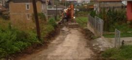 Radovi na rekonstrukciji puta u naselju Bare