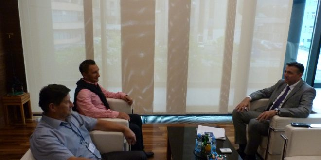 """Ured načelnika: Bistrivoda Enesa, direktora fudbalskog kluba  """"Mladost"""" Doboj-Kakanj primio načelnik Općine Kakanj"""