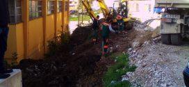 """Nastavljeni radovi na izgradnji parking prostora iznad OŠ """"Mula Mustafa Bašeskija"""""""