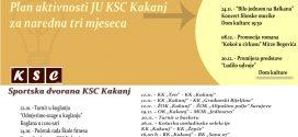 Raspored aktivnosti JU KSC Kakanj za naredna 3 mjeseca: Zanimljivi, šaroliki i kvalitetni sadržaji