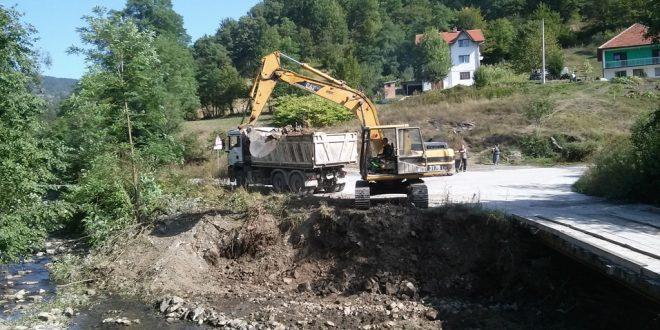 Počela izgradnja mosta u Brnjicu vrijednosti oko 100.000 KM