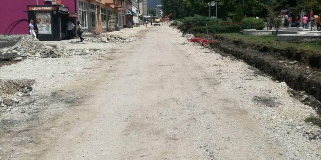 Intenzivni radovi na potpunoj rekonstrukciji centralnog gradskog dijela Kaknja