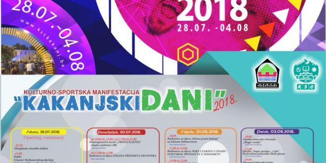 """Obavijest o izmjenama režima odvijanja saobraćaja za vrijeme trajanja Kulturno-sportske manifestacije """"Kakanjski dani 2018"""""""