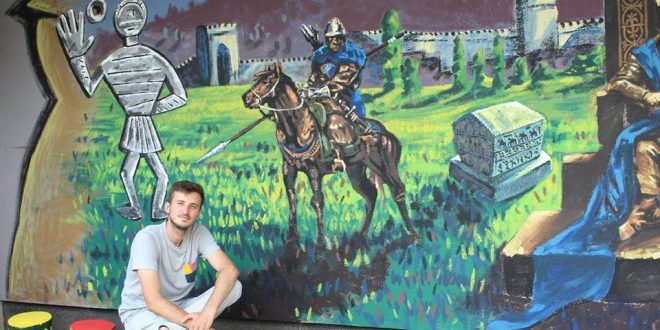 Kakanj dobio dva murala koji prikazuju znamenja srednjovjekovne bosanske države