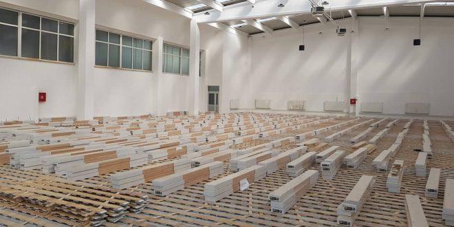 U toku postavljanje parketa u novoj kakanjskoj sportskoj dvorani