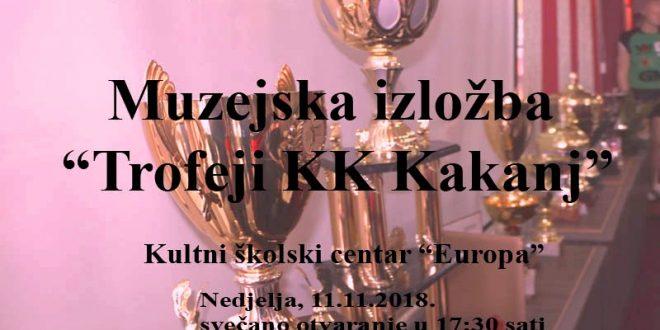 """Najava: U nedjelju otvaranje muzejske izložbe """"Trofeji Košarkaškog kluba Kakanj"""""""