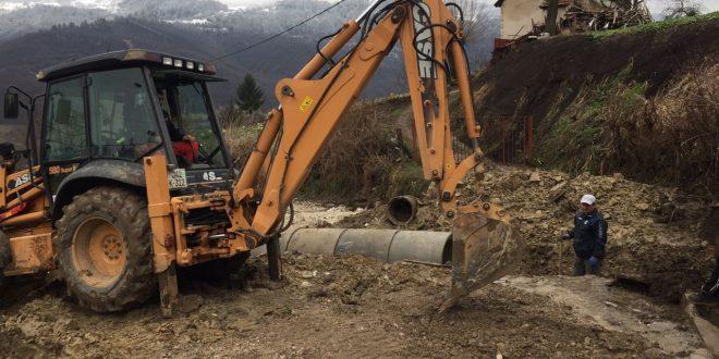 U toku radovi na sanaciji betonskih cjevastih propusta u Donjim i Gornjim Lučanima koji su oštećeni usljed dejstva vodenih bujica